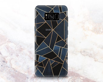 Geometric Phone Case Samsung 8 Note Case Abstract Illustration Galaxy s9 Plus Case Mosaic Triangle LG G6 Covers A8 2018 Case Clear Galaxy s7