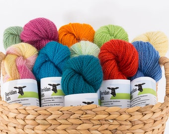 Wool Yarn by Sissy and Pearl - Sport Weight 2 Ply Romney - Solids