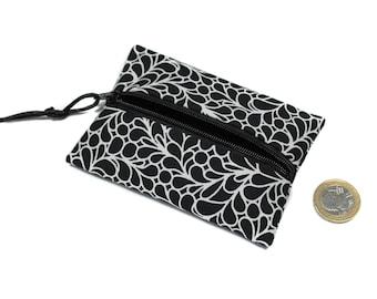 purse, small wallet, purse cotton, unisex wallet, zippered wallet, women gift