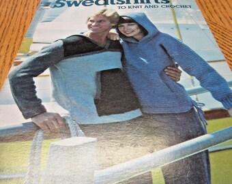 Vintage Patterns Sweatshirts, Leather, Hoodies, Knit, Crochet, Leaflet, 1977, Tennis Coverup, Hip, Hippie, 70's, Sweaters,Tops