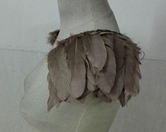 Handmade goose feather epaulette pads # FSP18001