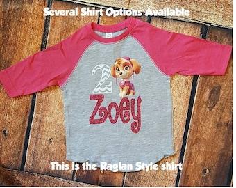 Paw Patrol Birthday Shirt-Girls
