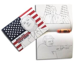 Trump Coloring Book with 2 Orange Crayons
