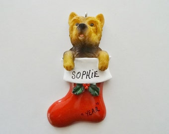 Yorkie Personalized Christmas Ornament - Yorkshire Terrier Personalized Ornament