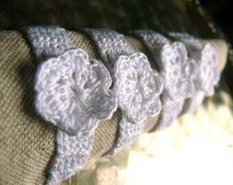 White cotton napkin rings, Set of 4, 6, 8, 12 crochet napkin rings, rustic wedding table decor, chic home Decoration, cotton napkin rings