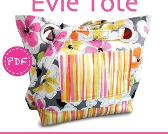 PDF Evie Tote Bag Purse SEWING PATTERN