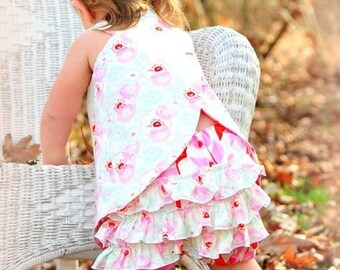 Crossover Top Pattern Sewing Tutorial for reversible Criss Cross Tunic 3m - 12 girls PDF