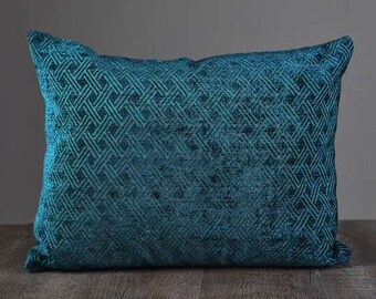 Teal Velvety Pillow