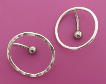 Top Down Circle Belly Button Ring
