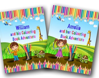 Personalised Colouring Book for Children - A Colouring Book Adventure to Help Learn the Alphabet and Animals - A Great Gift for Kids