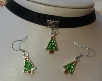 Christmas Earrings, Christmas Necklace, Christmas Jewelry, Choker