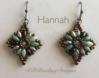 Hannah Beaded  Earrings Pattern