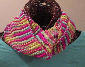 Infinity Scarf in Bright Gumdrop Colors