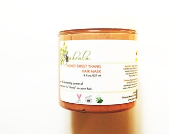 Honey Rhassoul Hair Mask - Co Wash Deep Conditioner Treatment - Natural Hair Care Product Sweet Thang