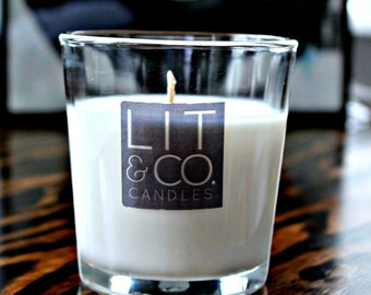 Lemongrass+Green Tea Natural Soy Candle in Glass Tumbler 8oz Candle