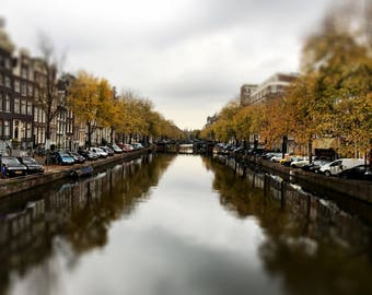 Canals Amsterdam Netherlands Photograph