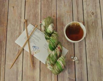 "Hand-Dyed Yarn, ""Hulk's Sweet Dream"", variegated, soft and squishy yarn. Great for socks or shawls. 80/20 Superwash wool/Nylon"