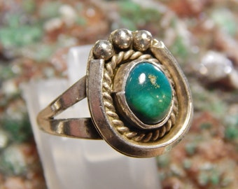 Native American Sterling Turquoise Ring