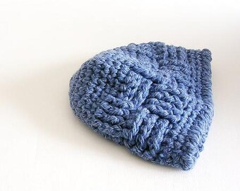 Light Blue Beanie Crochet Hat Unisex Beanie Man Woman Teens