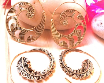 2 Pairs!!! Beautiful Solid Brass Earrings