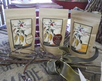 Cocoa Manna 4 oz. Brewing Chocolate Sampler Paleo Vegan Gift