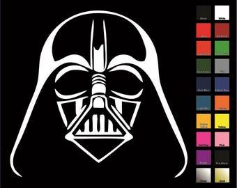 Darth Vader Decal / Sticker - Choose Size & Color - Star Wars