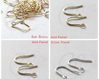 Brass Base Earring Hooks - 14x12mm (3618C-V-200)