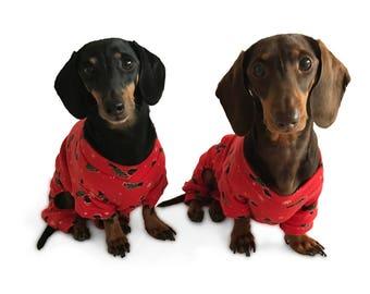 Christmas Hound Dog Pyjamas