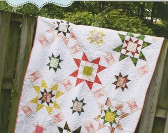 Emerson Star Quilt Pattern in 3 Sizes   #QUS145