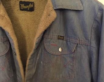 1970s Vintage Wrangler Lined Denim Jacket