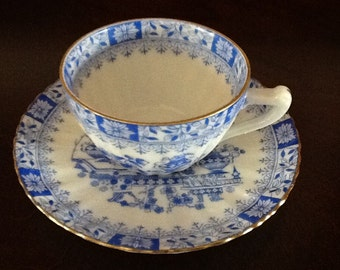 China Blau Demitasse Cup and Saucer