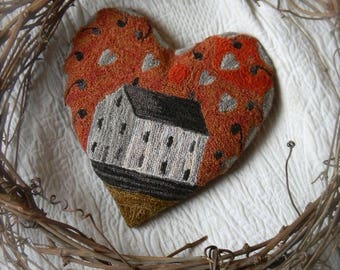 Love Shack ~ Punch Needle Pattern from Notforgotten Farm™ ~ PAPER/MAILED PATTERN