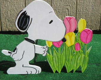 Peanuts Snoopy Spring Yard Sign