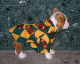 Green & Yellow Tan Football Dog Jacket