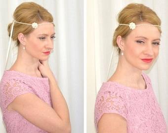 "Art Deco bridal headpiece ""Romy"""