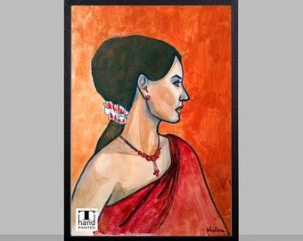 Women Painting, Home Decor, Art Decor, Wall Decor, Digital Download, Printable Poster, Digital Prints, Art, Watercolor, Acrylic, Painting