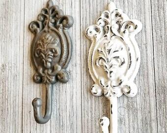 Hooks, Hooks for Wall, Wall Hooks, Decorative Wall Hooks, Rustic Wall Hooks, Coat Hooks, Key Hooks, Key Hooks For Wall, Country Chic Decor