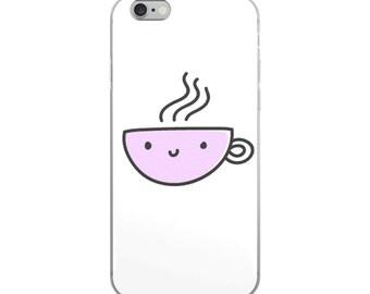 Cute Coffee Cup iPhone Case iPhone 7/8 case, 7 Plus case, 8 Plus case, iPhone X case, iPhone 6 case, 6s case, 6 Plus case, 6s Plus case