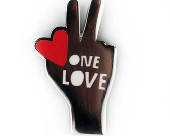 One Love Enamel Pin