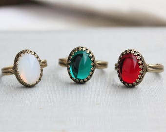 Jewel Ring. 7 Jewel Colors To Choose From