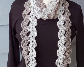 PATTERN S-084 / Crochet Pattern / ZigZag Scarf ... worsted 150 yards
