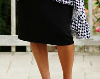 LillyAnnaLadies Women's Knit Pencil Skirt Modest