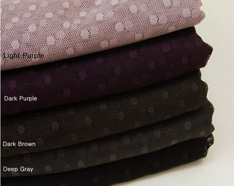 Polyester Mesh Fabric 4 mm Polka Dot in 5 Colors