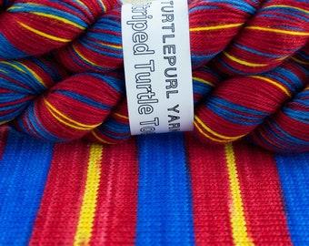 Superman - Hand Dyed Self Striping MCN Sock Yarn