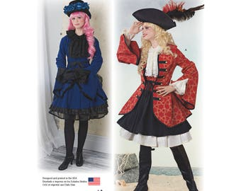 Simplicity Pattern 8285-Lolita Costume-Pirate- Cosplay-Plus Size 14-22