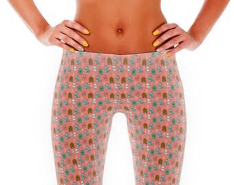 Women's Nordic Christmas Pastel Leggings Yoga Pants