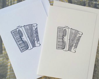 Accordion Illustration Note Card