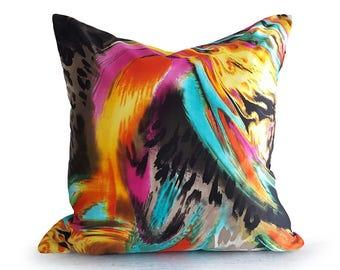 Psychedelic Pillow, Cool Pillow, Colorful Pillow, Abstract Pillow, Decorative Pillows, Throw Pillows, Digital Pillows, Teen Bedroom, 18x18