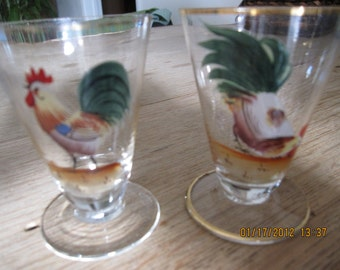 Hand Painted Juice Glasses