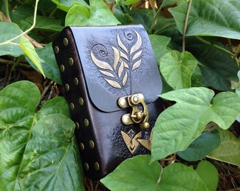 Arrows of Truth Hand Tooled Leather Tarot Deck Cards Holder Pouch Case